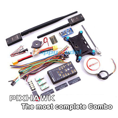 цена Pixhawk PX4 32 bit ARM Flight Controller Combo 6M/6H/M8N GPS/TF Card&SBUS/PPM Module&I2C/433Mhz DTM for RC Multicopter