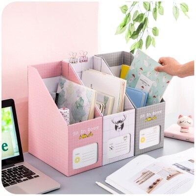 2PCS/LOT Creative DIY File Organizer Thicken Papery Magazine/Book/File Holder File Box