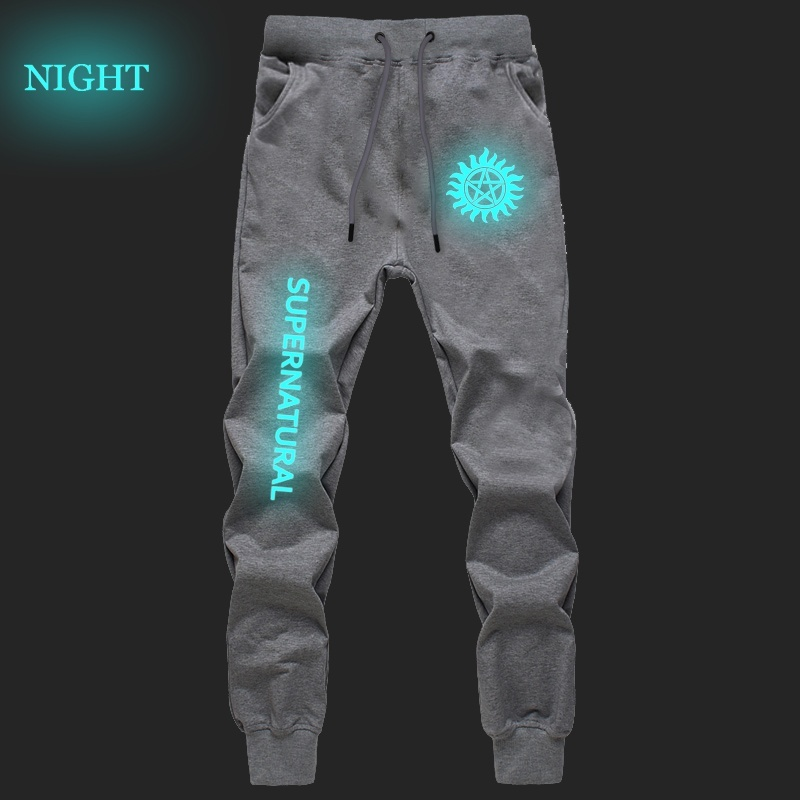 Men Women New Fashion Sports Breathable Pants Casual Students Straight Supernatural Luminous Pants Jogger Fitness Long Trousers