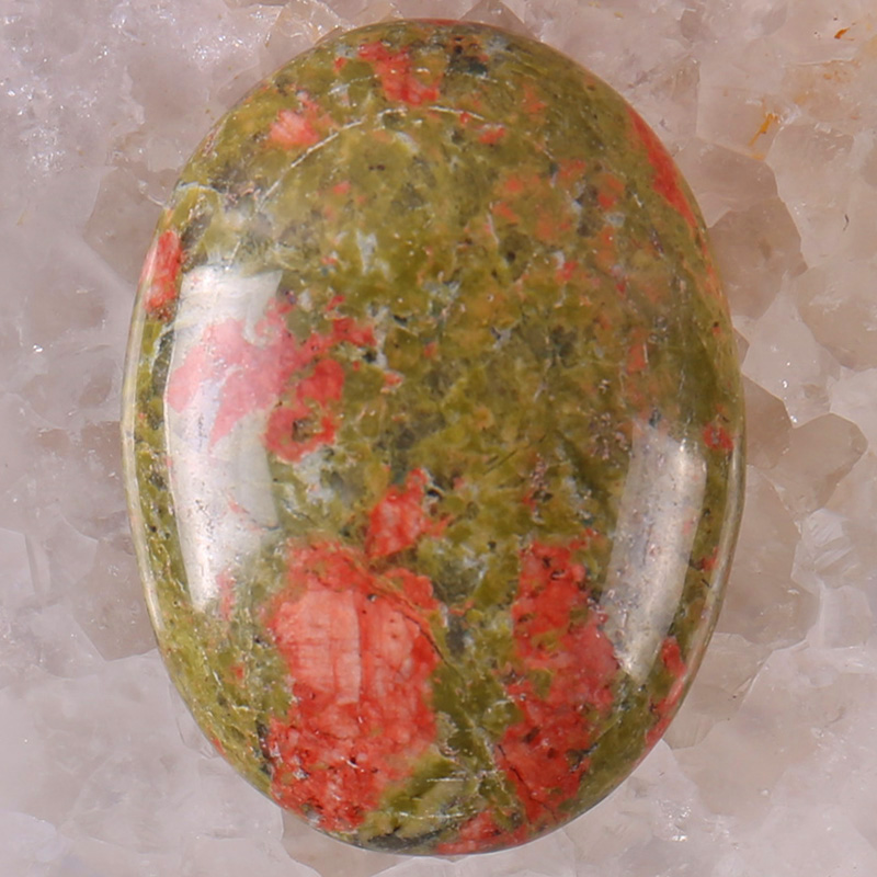 40x30MM Unakite Epidote Stone Oval Cabochon CAB GEM Jewelry Making 1PCS H086
