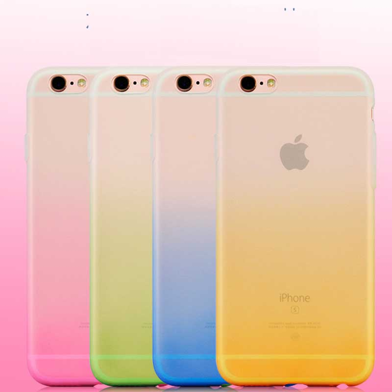 For IPhone 7 8 6s Slim Colorful Clear TPU Back Case Scrub Soft Back Cover For Apple IPhone X XR XS Max Support Wireless Charging