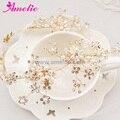 Free Shipping Handmade Beads Flower Wedding Hair Vines Tocados Para Boda Wedding Headpieces