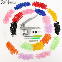 Hot Button Fastener Snap Pliers And 350 Sets T5 Size Snaps Resin Plastic Poppers Fastener Buttons