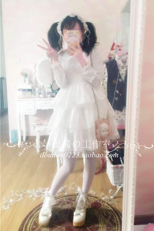 Robe lolita palace princesse col claudine fraise broderie robe victorienne kawaii fille robe gothique lolita op cos loli - 6
