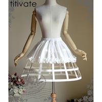 TITIVATE Women Tutu Skirt 2017 Mini Retro Skirt Rockabilly Petticoat Underskirt Vintage Steampunk Skirts Plus Size
