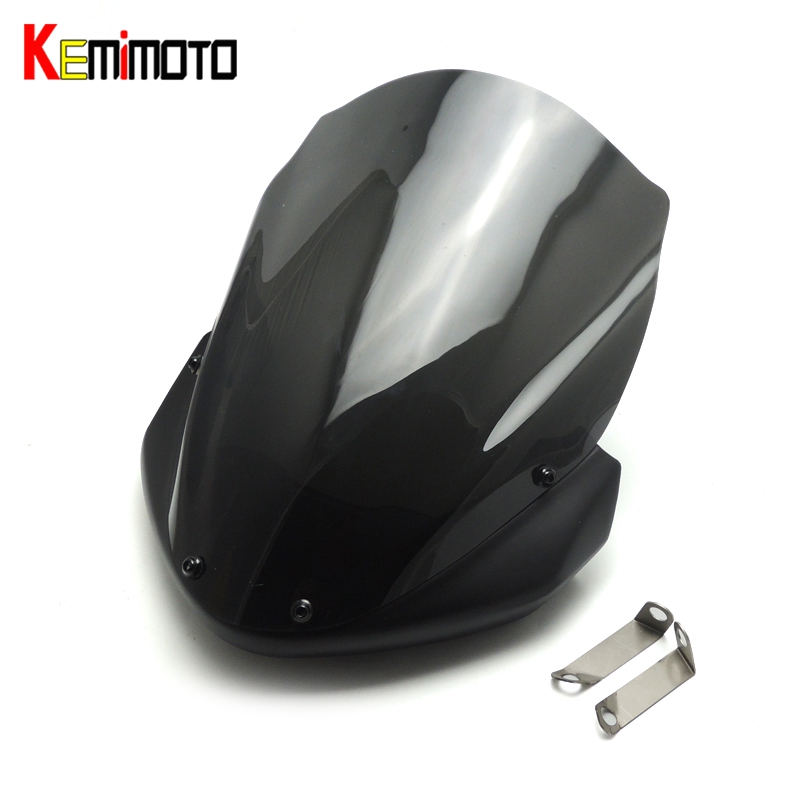 KEMiMOTO Motorcycle Accessories Long Windscreen Windshield Wind Screen For Yamaha MT-09 FZ09 MT09 MT 09 2014 2015 2016