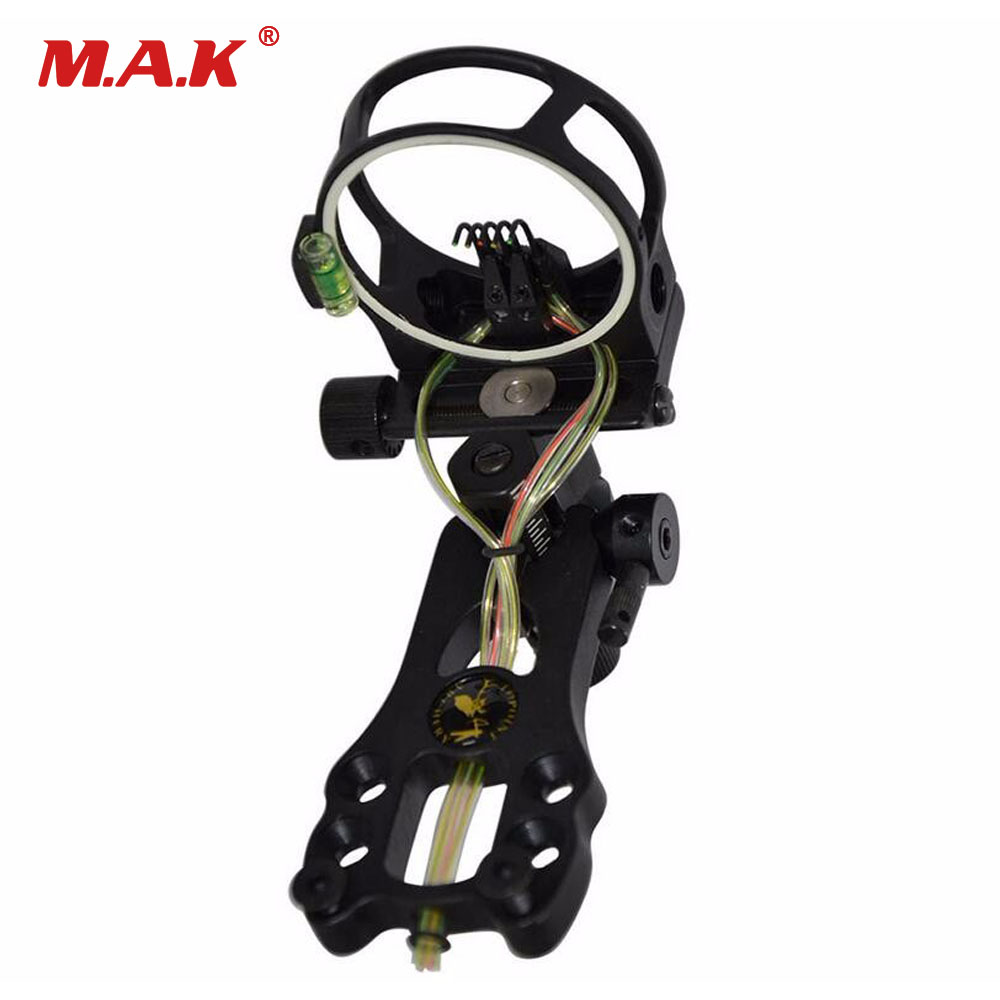 1pcs/lot High Quality Archery Hunting Compound Bow Sight 5 Pin Bow Sight 0.019,Micro Adjust,Tool Less Design Free Shipping new arrival sight adjust tool for 7 62 sks design best quality front sight tool for hunting shooting