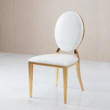 Metal Kumaş Sandalye düğün sandalyesi ziyafet sandalye Yemek Sandalye Düğün için Moment Ziyafet Otel parti veya toplama yastık ile