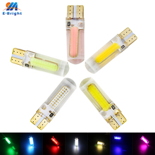 Hot Sale! 100pcs/lot T10 194 168 W5W COB 20 SMD 200 Lumens Silica Super Bright DC12V LED Turn Side License Plate Light Lamp Bulb aotomonarch 194 t10 led w5w white car super bright 2 smd automobile turn side license plate light lamp bulb led light lamp be