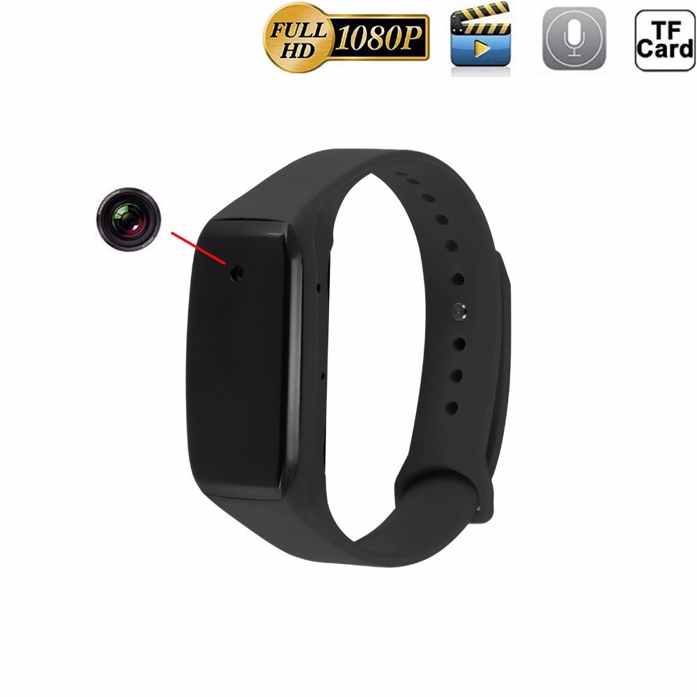 Galleria fotografica Full HD 1080P Bracelet Mini Camera Micro Cam Wristband 14.2 Million Pixels Lens Wearable Device DVR Action Video Sound Recorder