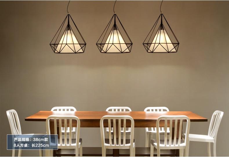 Կոնաձև կախազարդ լույսեր ադամանդի ձև - Ներքին լուսավորություն - Լուսանկար 2