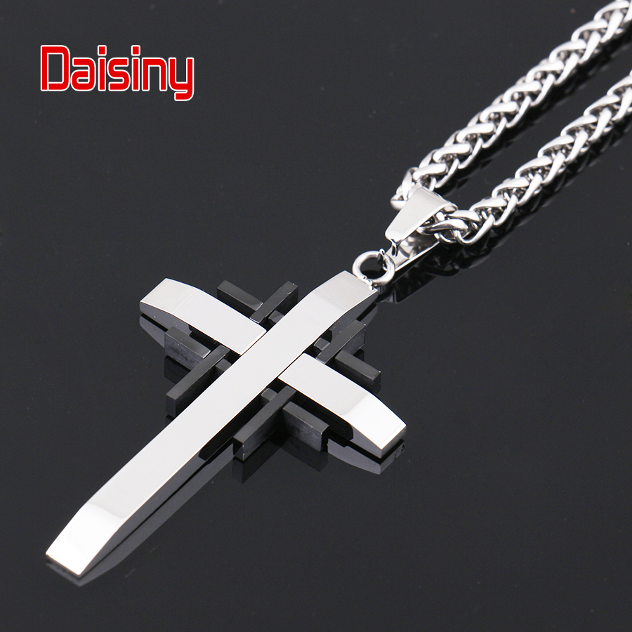 Classic Cross Pendants For Men Jewelry 316L Stainless Steel Never - Fashion Jewelry - Photo 2