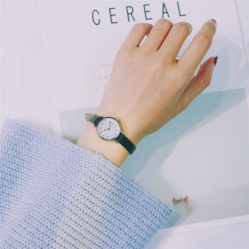 Vintage leather quartz women small watches ulzzang fashion brand thin strap ladies wristwatches simple style wild female clock simple retro style women quartz wristwatches ulta thin small dial female leisure watch leather slim ladies vintage watches hours
