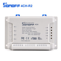 Sonoff 4CH R2 Smart Switch 4 Channels 433MHz 2 4G Wifi Remote Control Smart Automation Modules