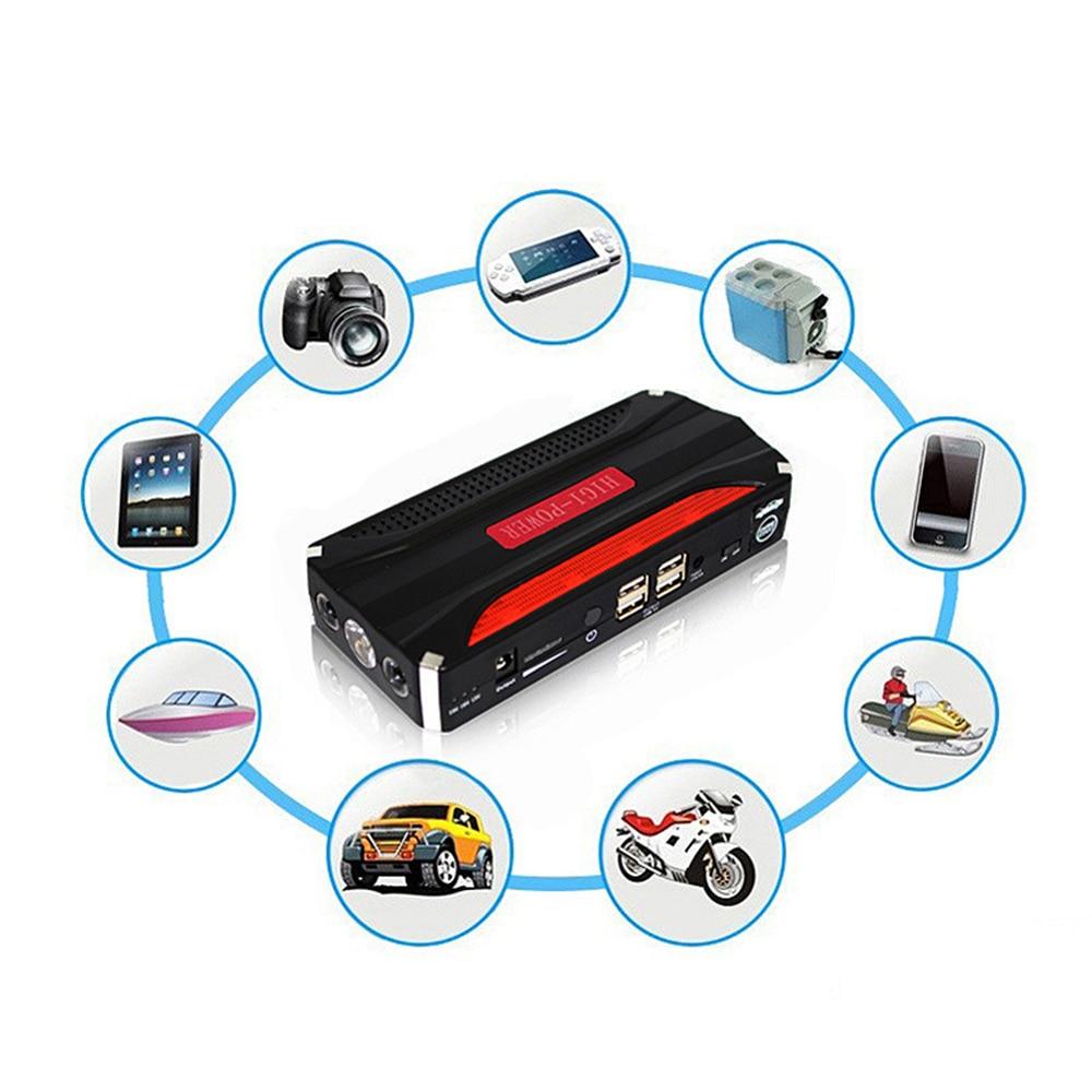 ФОТО MeiboAll Universal Car Jump Starter Power 12V 600A Mini Portable Emergency Power Bank Battery With 4USB Port SOS Light T0.2