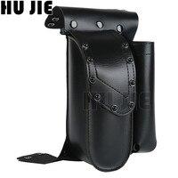 Motorcycle Black Crash Bar Saddlebag Guard Bag W/ Water Bottle Holder For Harley Touring Road King Electra Glide Road Glide