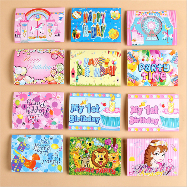 10pcs Inviting Party Cards Cartoon Cards Birthday Party Inviting