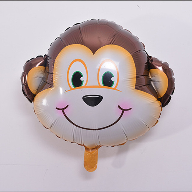 6pcs//lot Mini Tiger Animal Head Foil Balloons inflatable air Kids Birthday Party