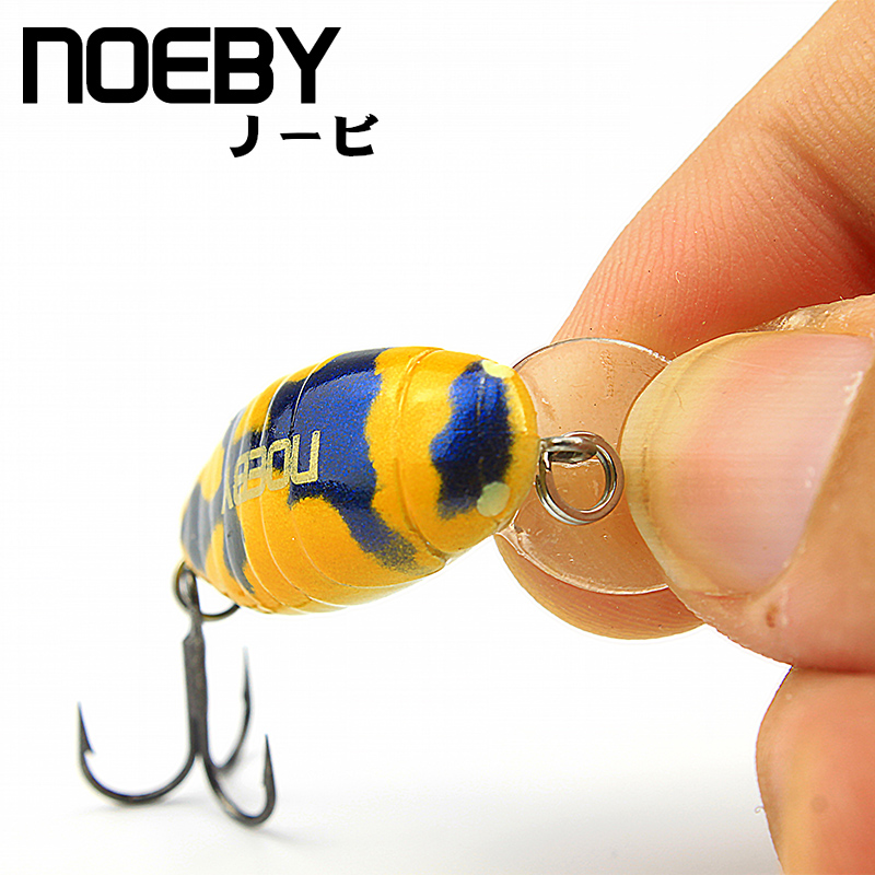 NOEBY Artificial Insect Bait 28mm/2g 0-0.3m Floating Fishing Lure VMC Treble Hooks Leurre Dur Peche Isca Artificial Pesca Souple smart sinking vibration fishing lure 8cm 17 2g plastic vib bait isca artificial pesca peche leurre dur winter ice fishing tackle
