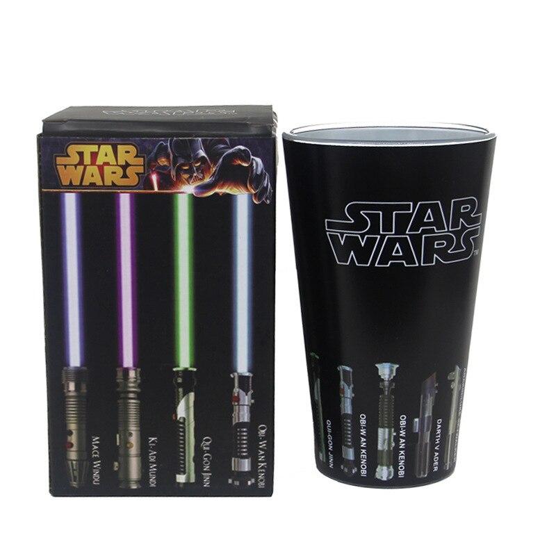 Star Wars gafas de color cambio tazas de café tazas de té y tazas de magia de vino vidrio de cerveza de sable láser creativa tazas
