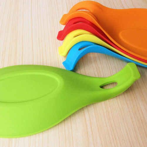 Merek Gaya Baru Spatula Alat Sendok Mat Eggbeater Gadget Dapur Dish Pemegang Silikon Pad