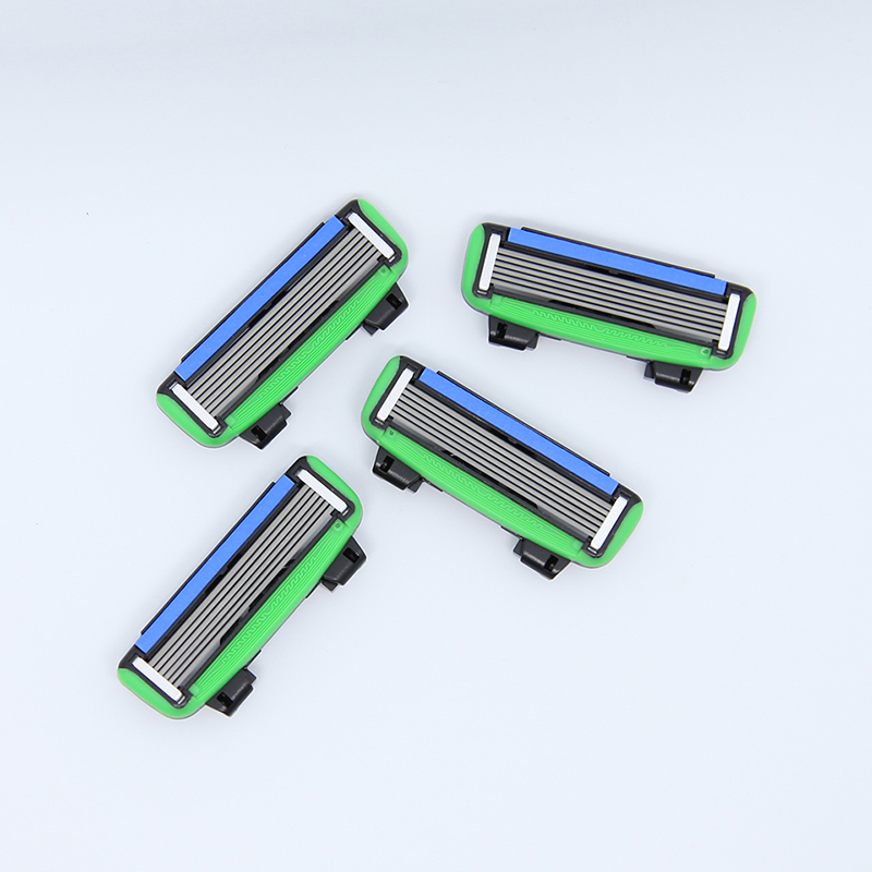 Brand New 4 pcs/lot 6 Blades Men's Face shaving Razor Blades shaver For Men Sharpener High Quality Sharpener Razors Blade PACE6 пудра new brand 4 teint 15g 6 nw35 55