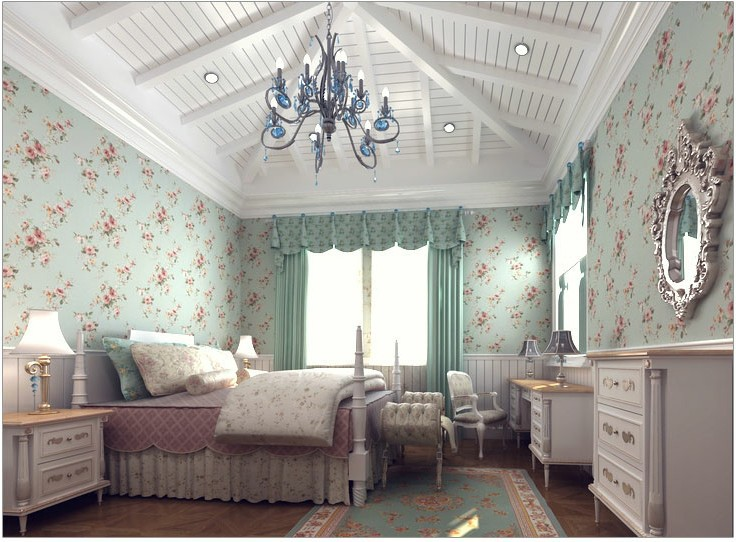 Designer wallpaper picture more detailed picture about for Vintage bedroom wallpaper