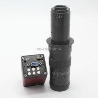 Бесплатная доставка 2.0mp 30fps 1080 P HDMI VGA двойной Выход цифровой промышленный микроскоп Камера + 10x 180x оптический C Mount объектив