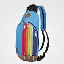 Shunvbasha Радуга рюкзак Для женщин сумка челнока Моды Молодой Дамы Подросток студентов в разноцветную полоску на молнии Малый школьная сумка