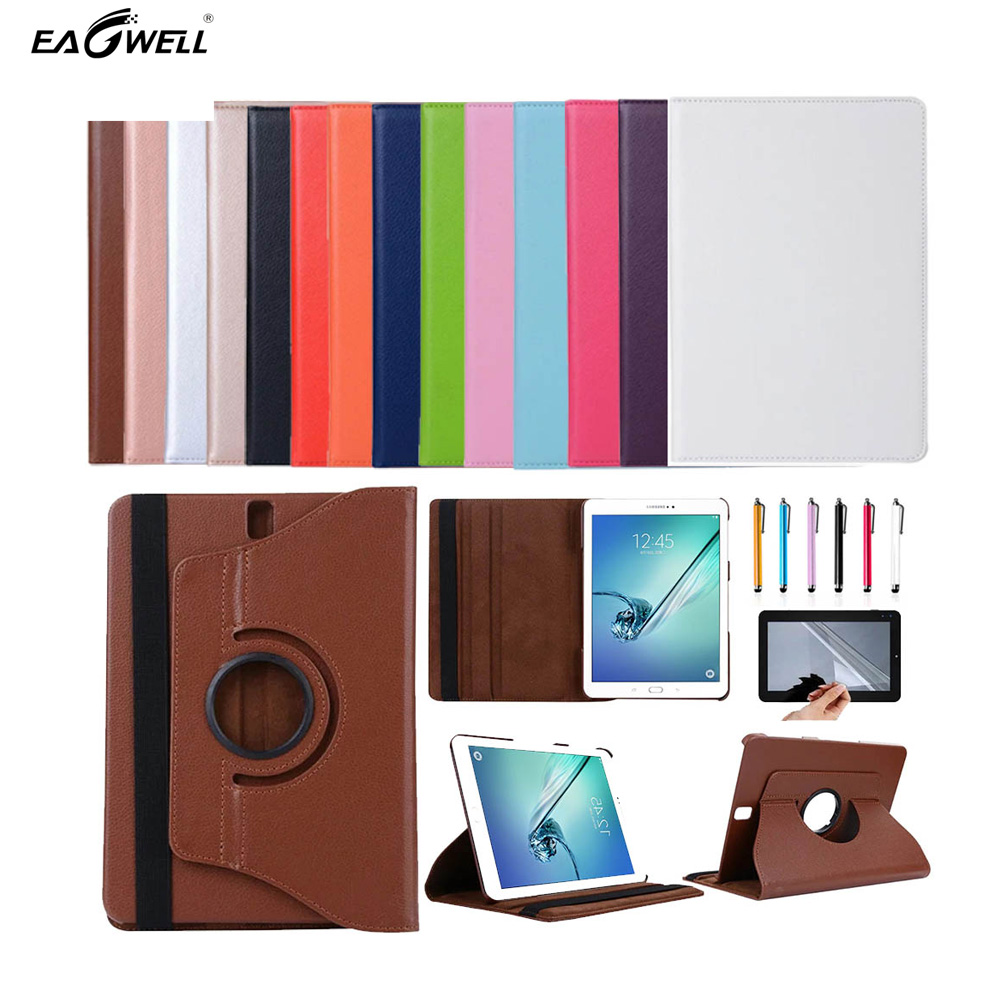 Eagwell 360 Degree Rotating PU Leather Stand Tablet Case Cover For Samsung Galaxy Tab S3 9.7 T820/T825 Fashion Smart Shell Skin