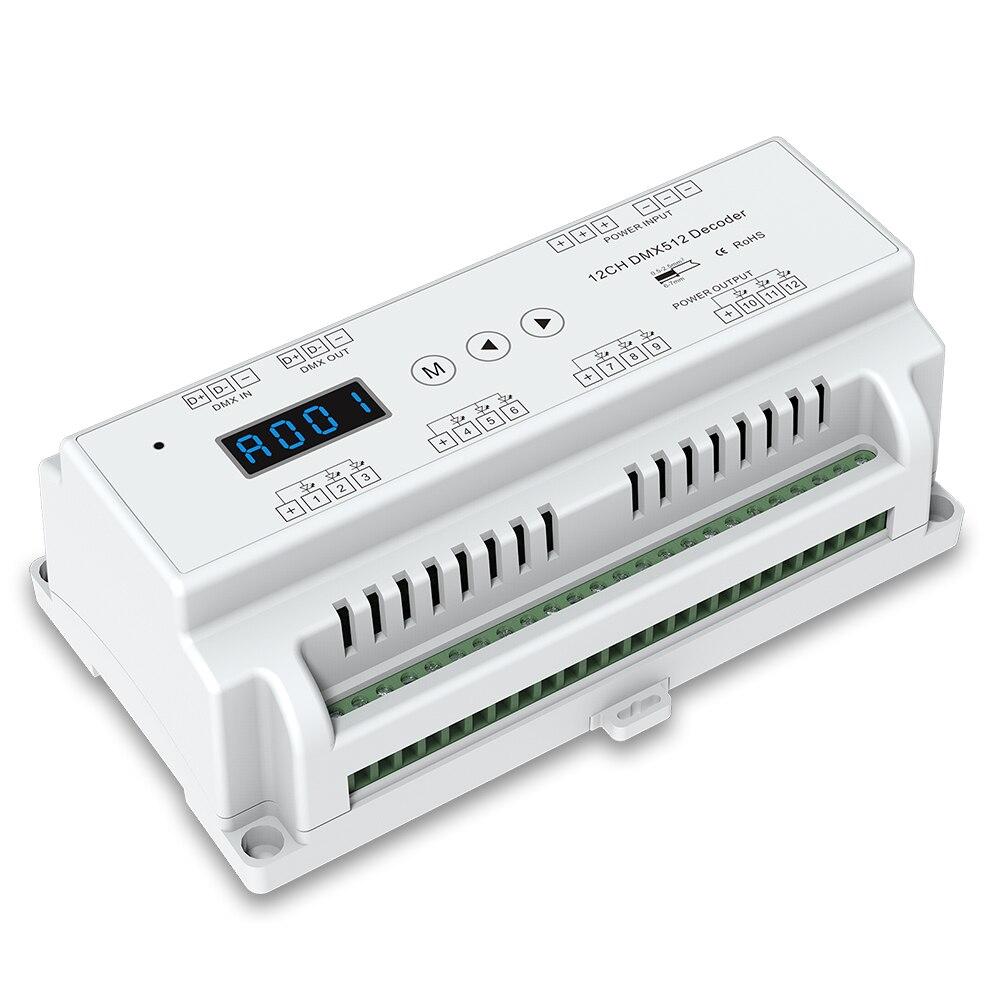 Förderung!!! 12 Kanal CVDMX512 Decoder; DC5-24V input; 5A * 12CH ausgang mit display für einstellung dmx adresse