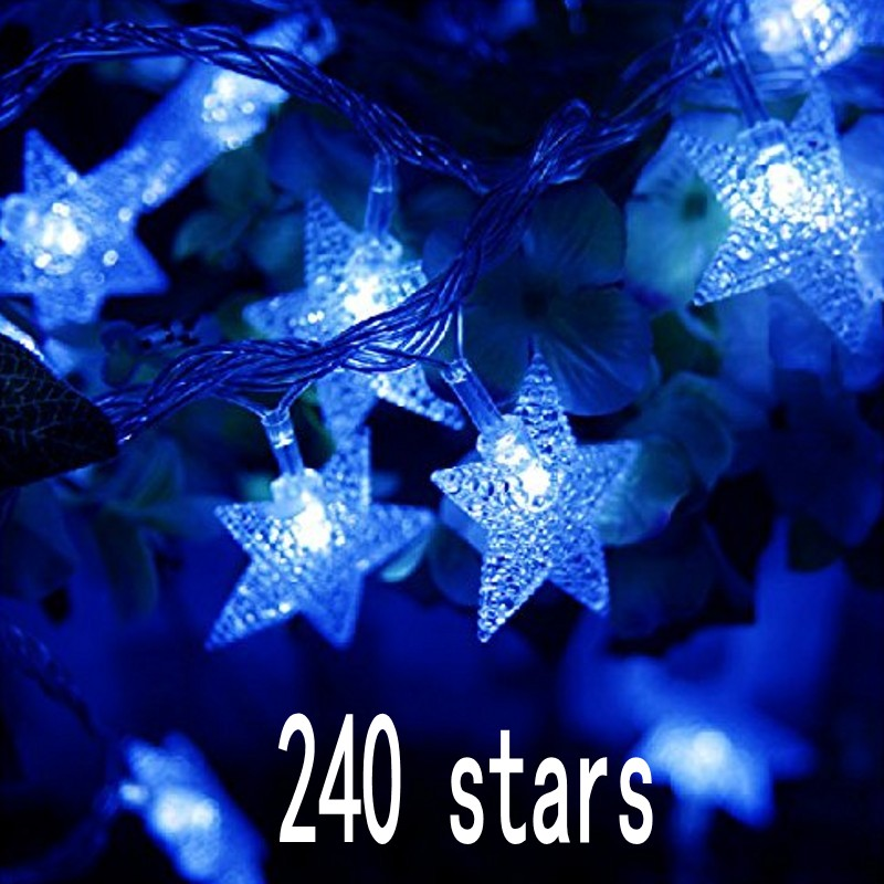 Household items LED star string Waterproof outdoor party multicolor decoration room decorative star lights string 30M 240 stars