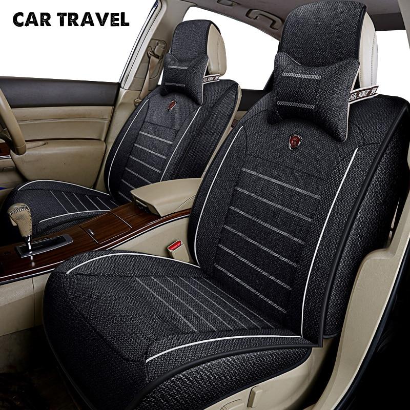 CAR TRAVEL flax car seat cover for passat b5 6r sedan vw 9n auto accessories car-styling