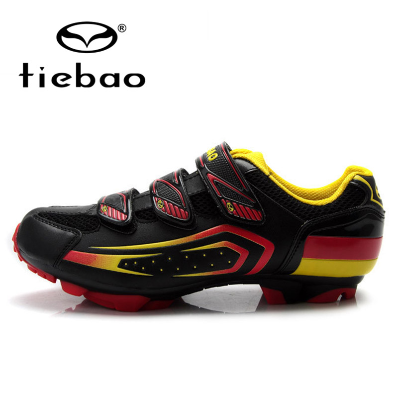 TIEBAO Professional MTB Mountain Bike Racing Athlete Shoes Men Women Bicycle Cycling Shoes Self-Locking Sports Shoes Sneakers