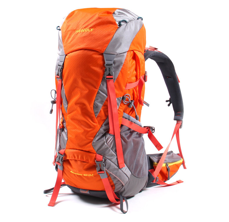 Hewolf Professional Climbing Bag Large capacity camping sports bags 45L Outdoor Backpack Travel Mountain climbing backpacks multifunctional professional handle pulley roller gear outdoor rock climbing tyrolean traverse crossing weight carriage fit