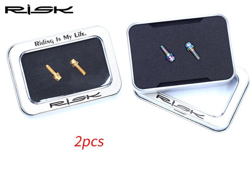2PCS M5 * 12mm Titan Ti Yüngül lehimli boltlar, Motosiklet M5 x - Velosiped sürün - Fotoqrafiya 2