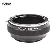 FOTGA خاتم محول كاميرا خواتم لكانون EOS EF عدسة ل سوني E جبل NEX 3 NEX 7 6 5N A7R II III A6300 A6500