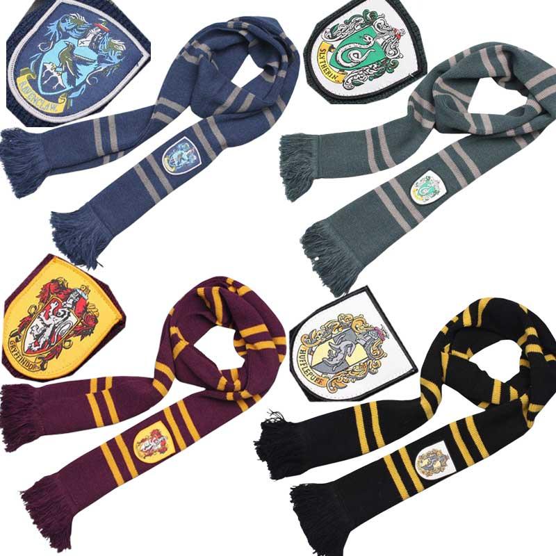 Engrosamiento Bufanda de Harry Potter Bufandas Colegio Unisex Striped  Gryffindor Slytherin Hufflepuff Ravenclaw Bufandas Bufanda Del