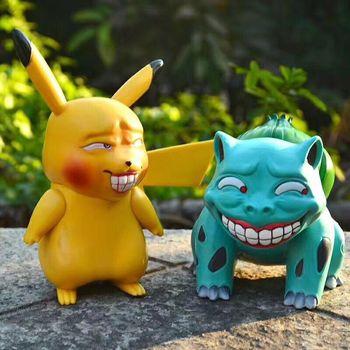 Anime Pikachu & Bulbasaur & Squirtle & Christmas Charmander Funny obscene Ver. Action Figure Model Toys