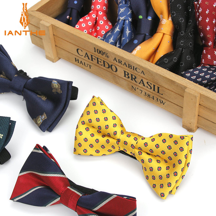 New Style Plaid Children Bowtie PolYester Bowties Baby Kid Kids Classical Pet Stripe Butterfly Bow Tie Elk Bike Dot Dog Car