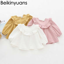 Shirt Clothing Baby Girl Cotton Doll Fungus Autumn Korean-Version Long-Sleeved Children's
