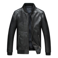 JAYDENROSE New Motorcycle Jacket Genuine Leather Punk Classical Windproof Jacket Leather Collar Men Jacket Spring And