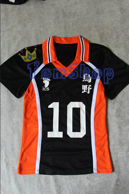 Anime Haikyuu!! Karasuno High School #10 Hinata Shyouyou Jersey Cosplay Costume Men's Sports Wear Uniform M L XL XXL