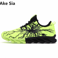 Ake Sia 2017 High Quality Autumn New Men S Shoes Fashion Breathable Casual Shoes Lightning Blade