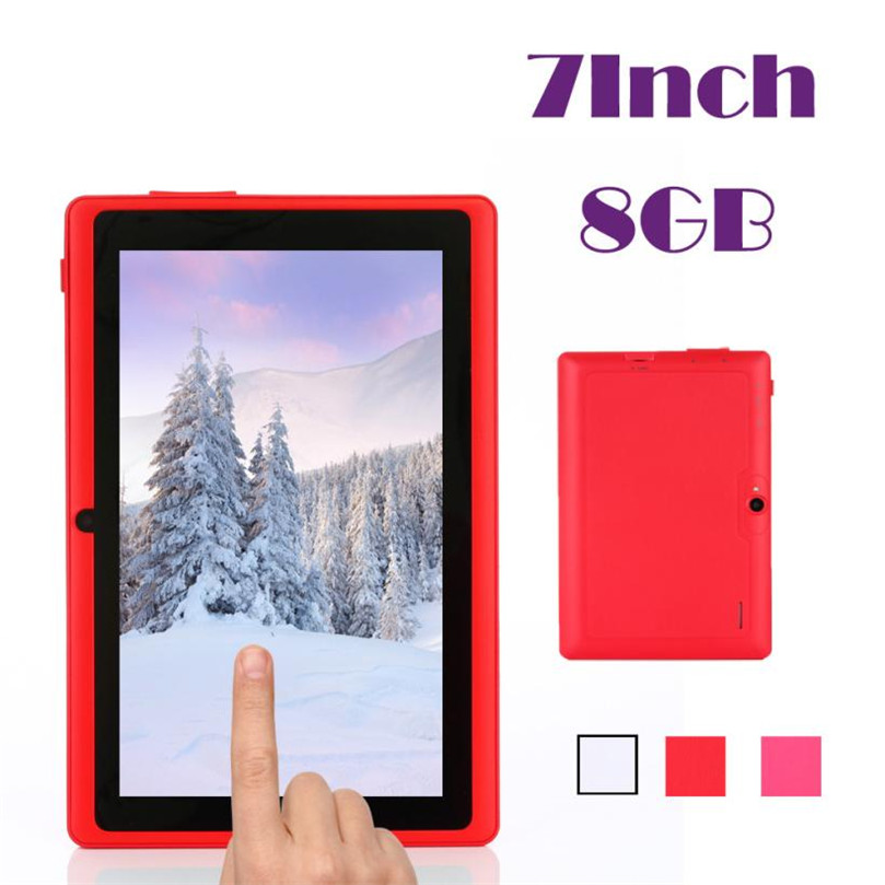 Reliable 7 Inch Multi-Color WIFI Quad Core Tablet PC HD 1024*600 Google Play Android 4.4 8GB babypad 7 inch 1024 600 hd android 4 4 tablet pc for kids quad core dual cameras google 8gb rom case free christmas gift