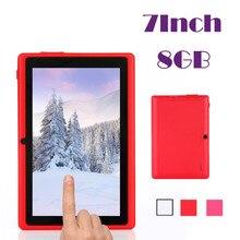 Надежный 7 Дюймов Многоцветный WI-FI Quad Core Tablet PC HD 1024*600 Google Play Android 4.4 8 ГБ