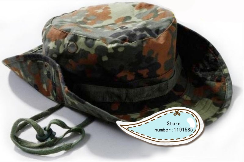af32dc90385dd Detail Feedback Questions about Military Army Round brimmed Hat Sun Boonie  Hat Cap for Fishing Hiking Germany Camo on Aliexpress.com