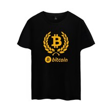 Bitcoin Tee Shirt Homme De Marque Short Sleeve Summer Fashion Funny T Shirts Virtual Currency Casual 4XL Tshirt Men