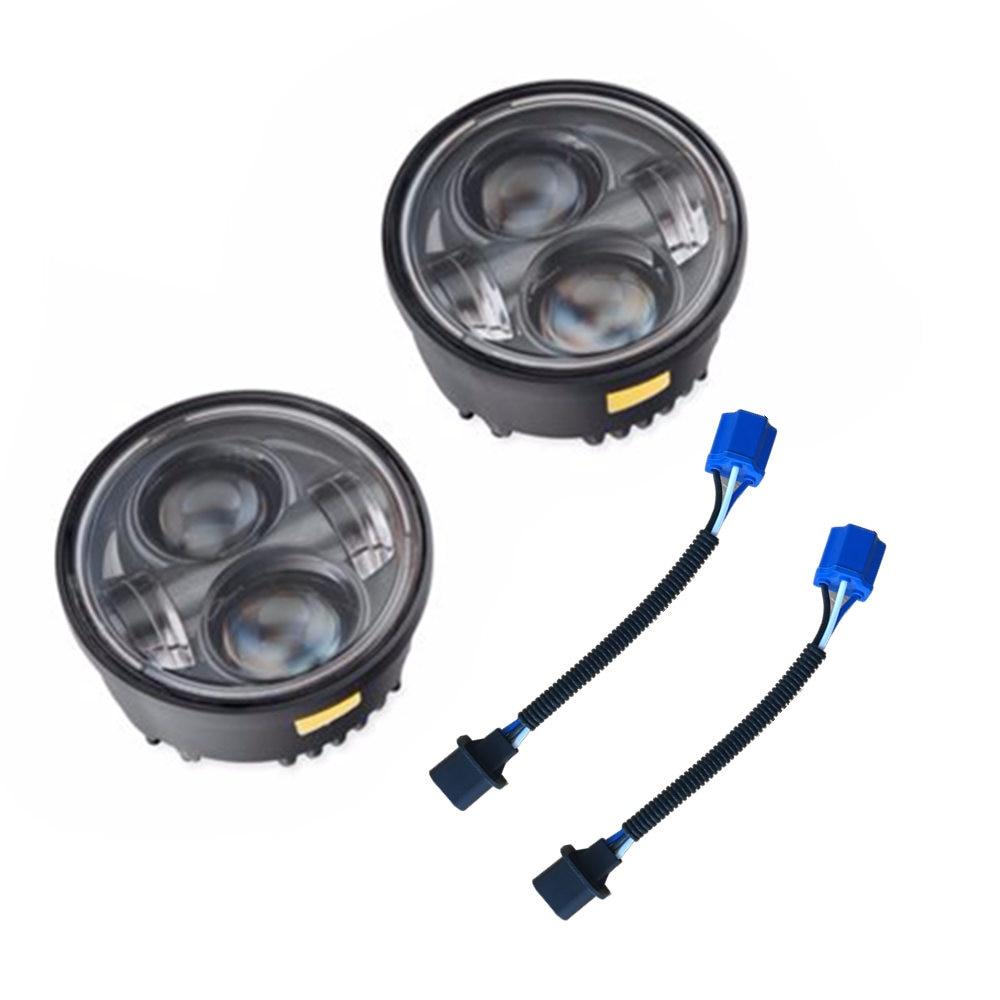 Pour moteur moteur projecteur lampes LED 4.65 pouces feux de croisement salut faisceau double lampe 2011 FXDF 2009 FXDF 2014 FXDF gros Bob 2015 gros Bob