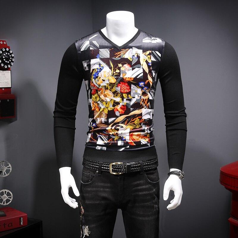 Tasty Flower Pattern 3d Printing Fashion Patchwork Luxury Sweater Autumn 2018 Quality Soft Comfortable Pleuche Sweater Men M-3XL